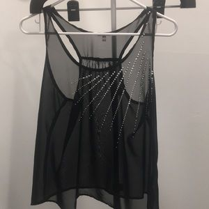Charlotte Russe Tops - Sheer black tank